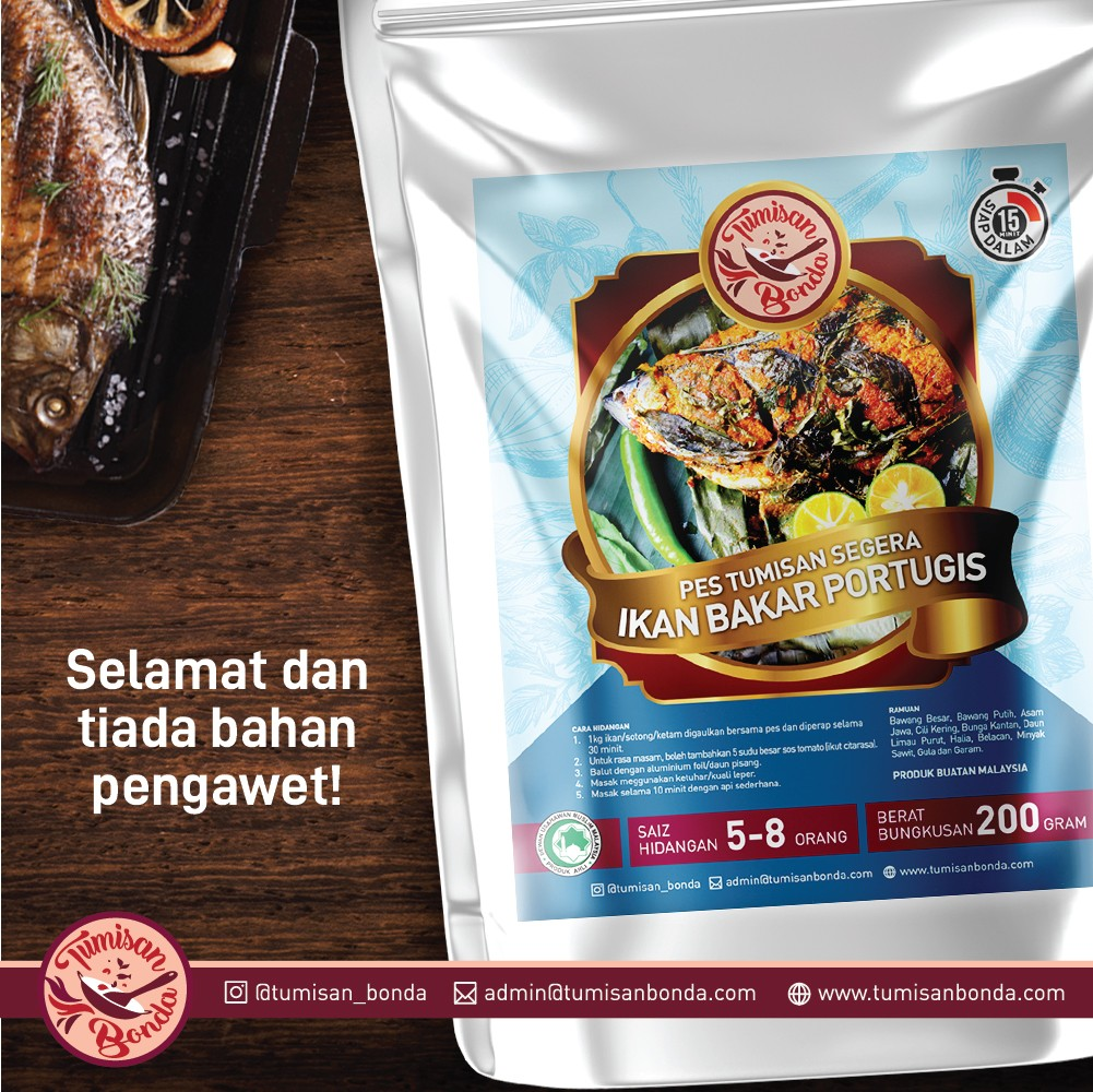 Shell Out dengan Pes Portugis Gril